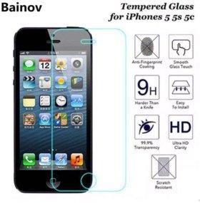 Закалённое стекло на iPhone (айфон) 5, 5s, SE