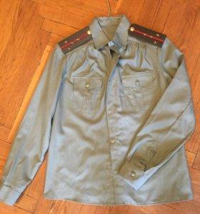 Рубашка военная, размер М (с погонами и галстуком)