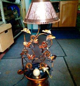 Антикварная лампа-фонтан