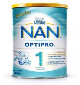 Смесь NAN 1( с рождения ) новая , не вскрытая .