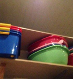 Посуда пластиков для хранения вещей новые и б/у
