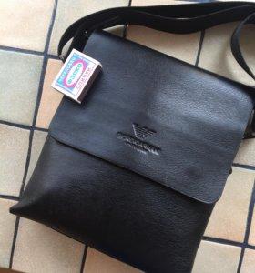 Кожаная сумка Armani