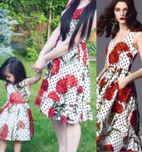 Платье Дольче для дочки и мамы