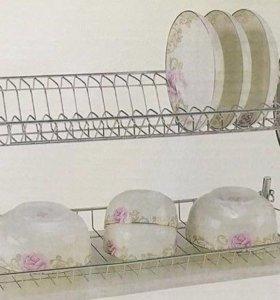 Металическая сушилка для посуды