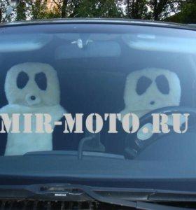 Накидки на авто панды