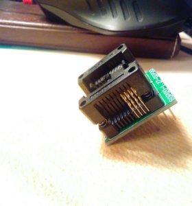 Переходник из SOP8 в DIP8 быстросменный