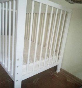 кроватка детская + матрас (срочно)