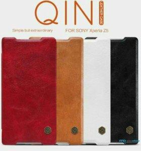 Чехол-книжка кожаный Soni Xperia Z3+