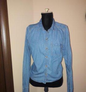 Рубашка джинс 44 размер