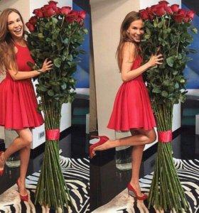 Гигантские 2 метровые розы 51 шт.