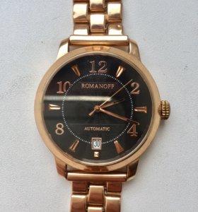 Золотые часы Romanoff с золотым браслетом