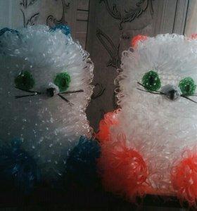 Детские мочалки кошки
