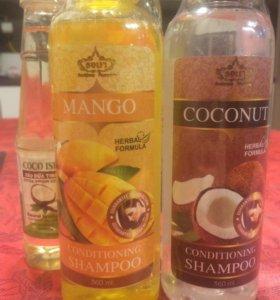 Травяной шампунь с манго и с кокосом