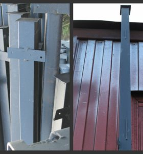 Столбы металлические с заглушками
