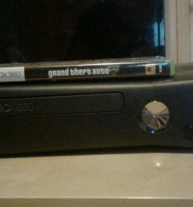 Xbox 360 slim 500gb + игра