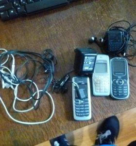 Зарядные устройства, наушники, телефоны