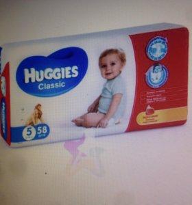 Huggies Classic 5 (11-25кг) 58шт