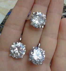 Серебро 925 проба серьги,без кольца