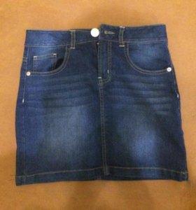 Джинсовая юбка на девочку 9-11 лет 148-154см