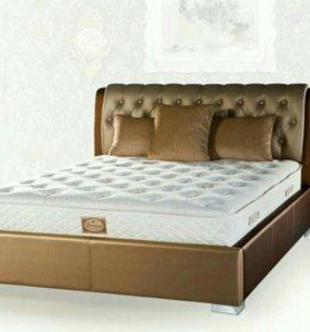 Кровать класс Люкс! Экокожа! Новая!