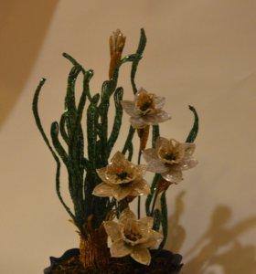 Цветок из бисера💥💥