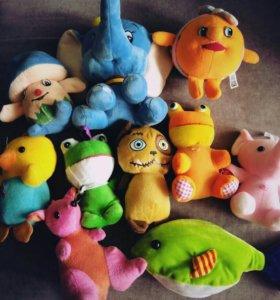 Новые мягкие игрушки, от 150 рублей.