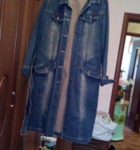 джинсовый плащ