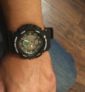 Часы касио водонепрон.люминесцентные 5 атм новые