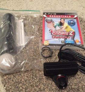 PS3 Праздник спорта диск, контроллер и камера