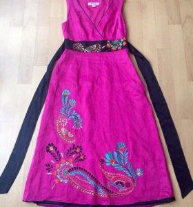 Коллекционное платье из шёлка Monsoon с вышивкой