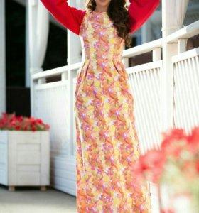 Джинсовый сарафан платье Орхидеи allyamova