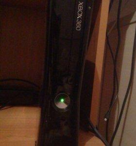 Xbox 360 slim + kinect + игры