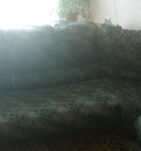 Диван с артапедическим спальным местом+ кресло