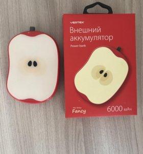Внешний аккумулятор Яблочко 6000 mah