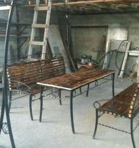 Качели,стол,скамейки