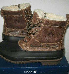 Сапоги ботинки лягушки Sperry на меху