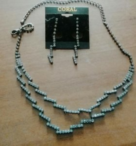 Комплект серьги +ожерелье