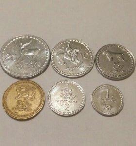 Набор монет Грузии 1993 года