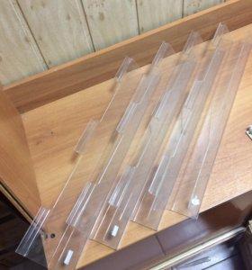 Полочки пластик для эконом панели
