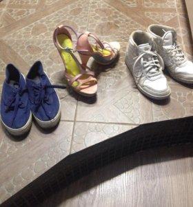 Кеды, кроссы Адидас и босоножки