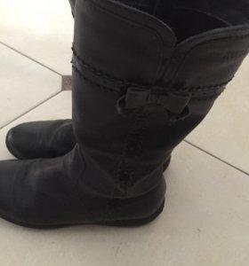 Кожаные сапоги для девочки
