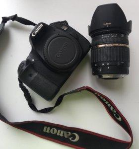 Продам фотоаппарат Canon 60D + объектив Tamron