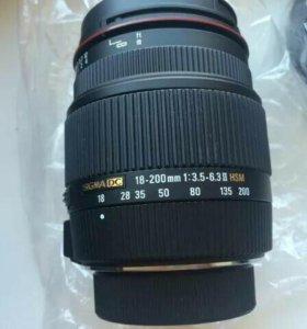 Sigma 18-200 Nikon HSM