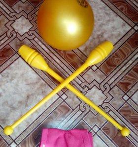 Предметы для художественной гимнастики мяч и булав