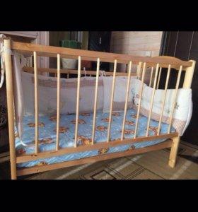 Кроватка (маятник) + бортики