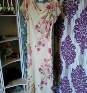 Платье шифоновое.р.48