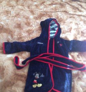 Детский банный халат, микрофибра
