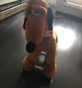 Детская собака- качалка