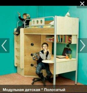 Детский уголок (кровать стол шкаф)