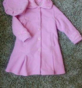 Комплект пальто с беретом р. 116-122